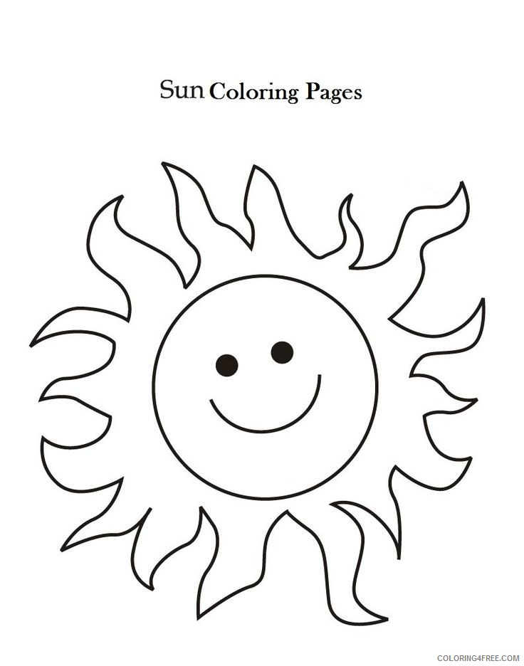 sun coloring pages for kids printable Coloring4free