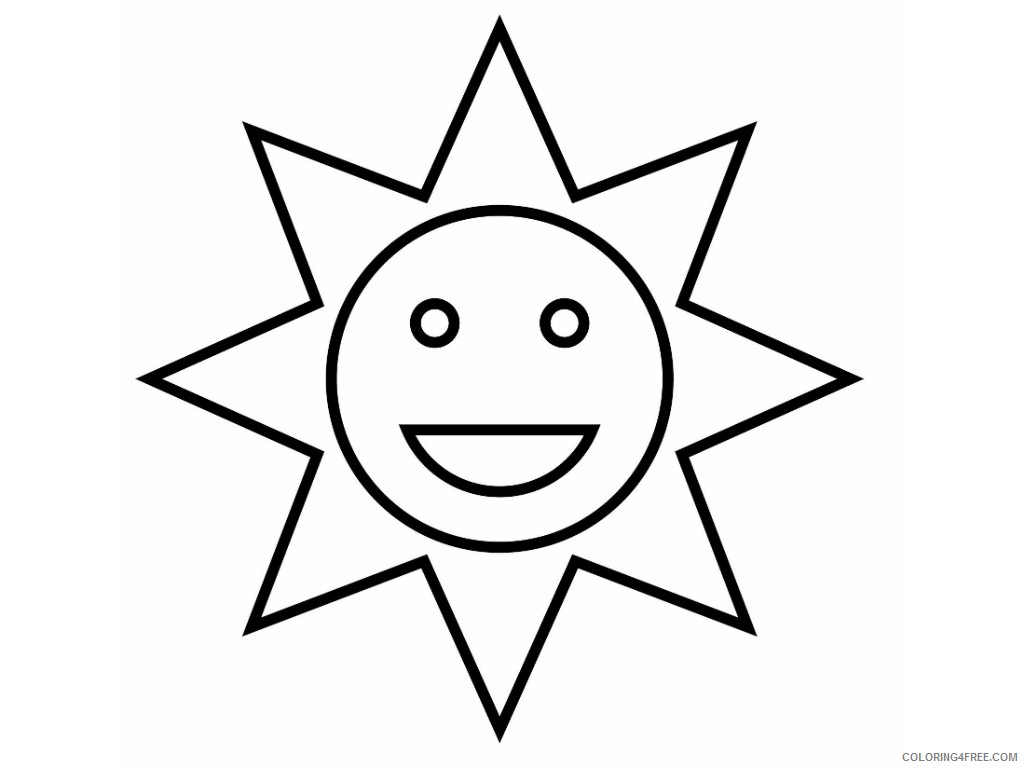 sun coloring pages for toddler Coloring4free
