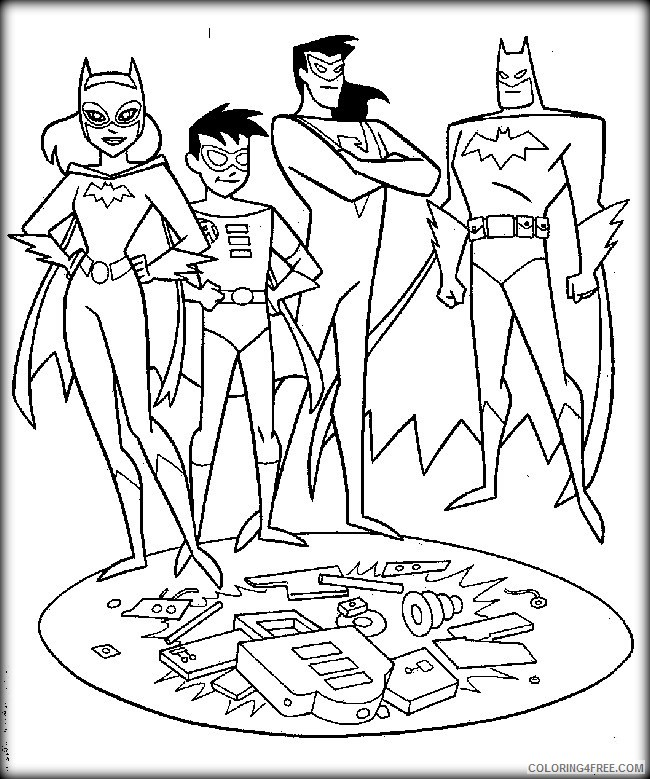 superhero coloring pages free to print Coloring4free