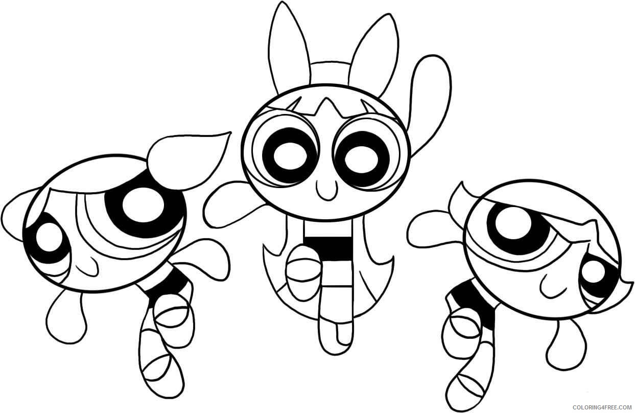 superhero coloring pages powerpuff girls Coloring4free