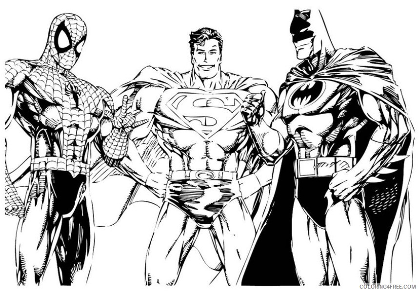superhero coloring pages printable Coloring4free