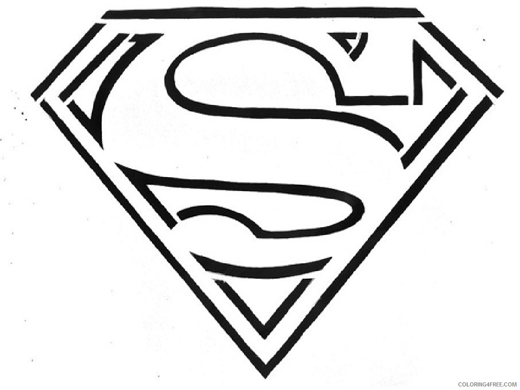 superhero coloring pages superman logo Coloring4free