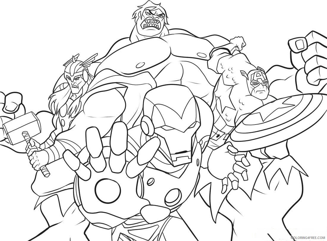 superhero coloring pages the avengers Coloring4free