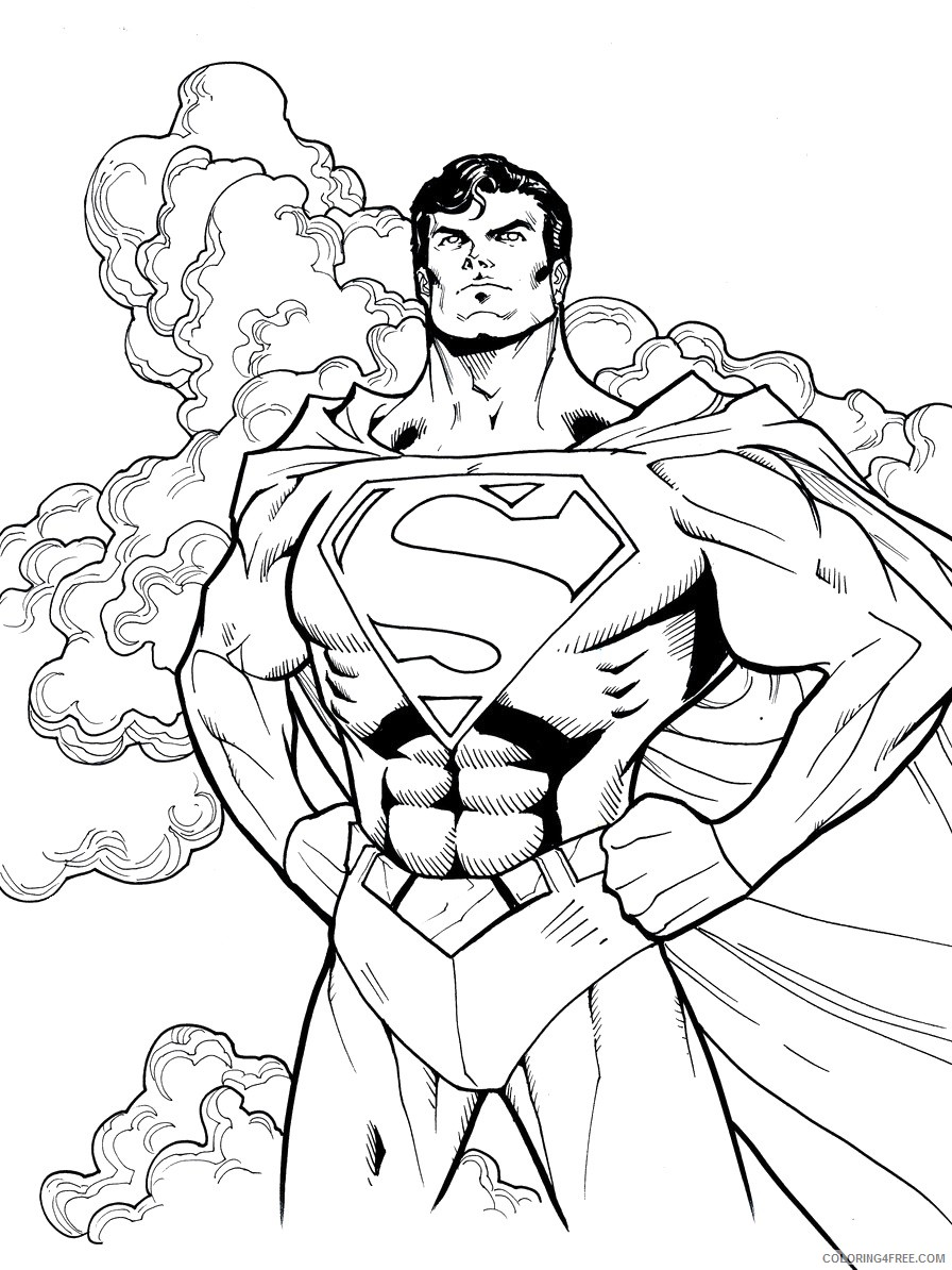 superman coloring pages for boys Coloring4free