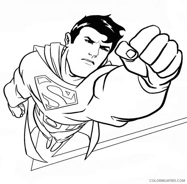 superman coloring pages in action Coloring4free