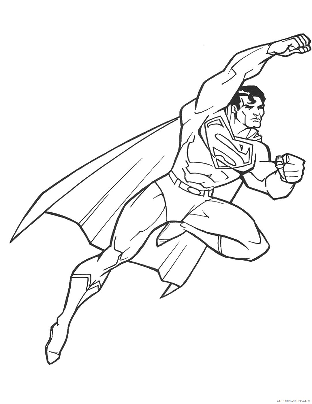 superman coloring pages printable free Coloring4free