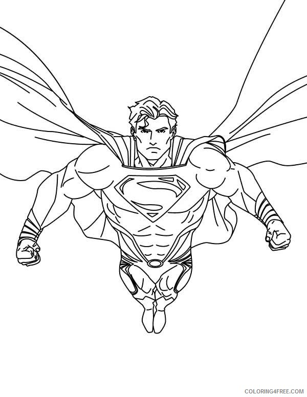 superman coloring pages strong superhero Coloring4free