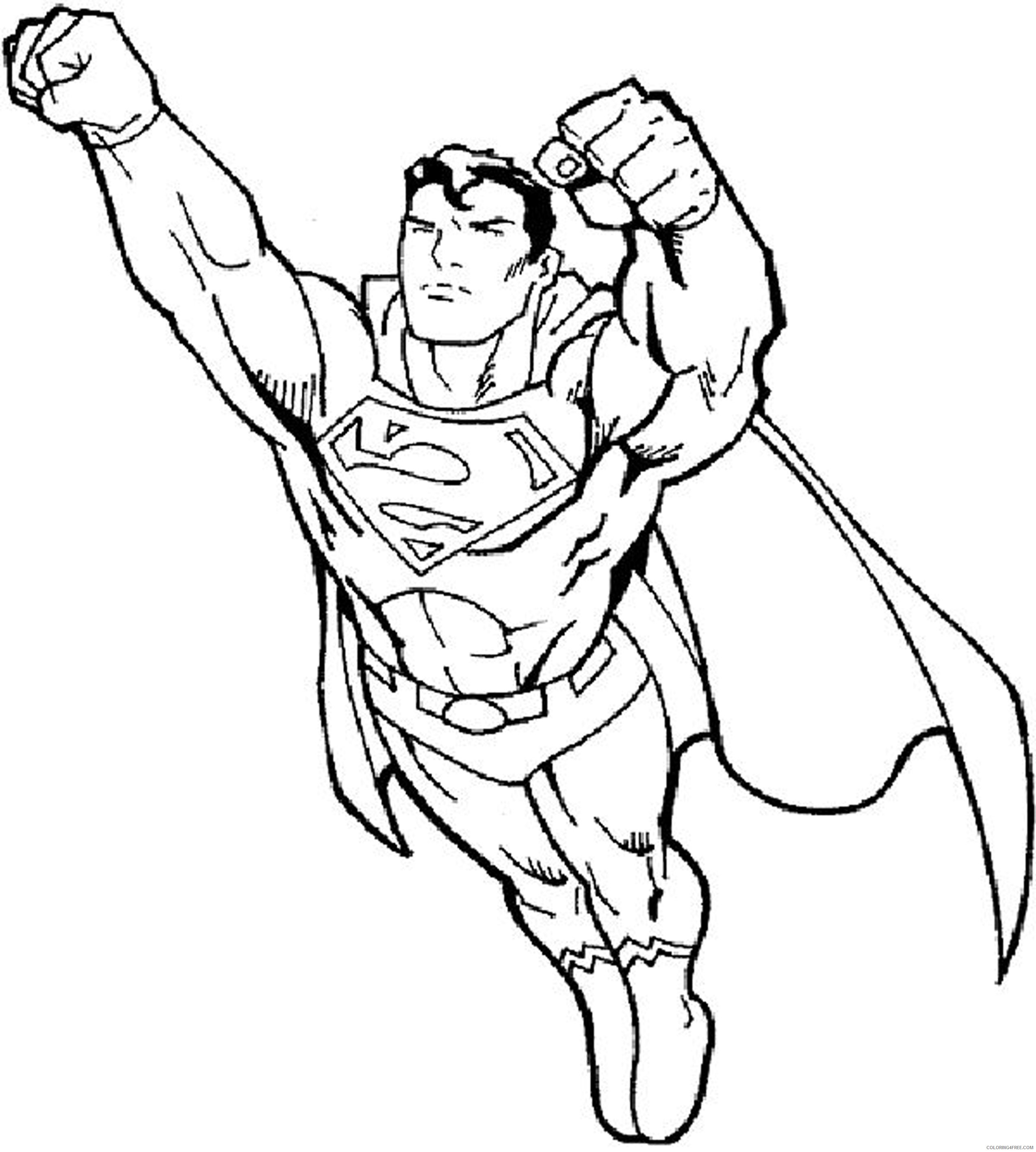 superman flying coloring pages Coloring4free