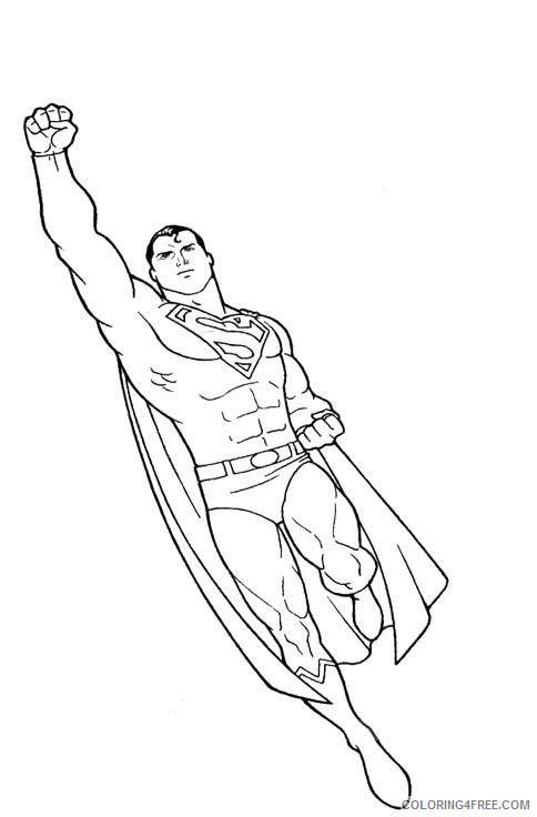 superman flying coloring pages to print Coloring4free