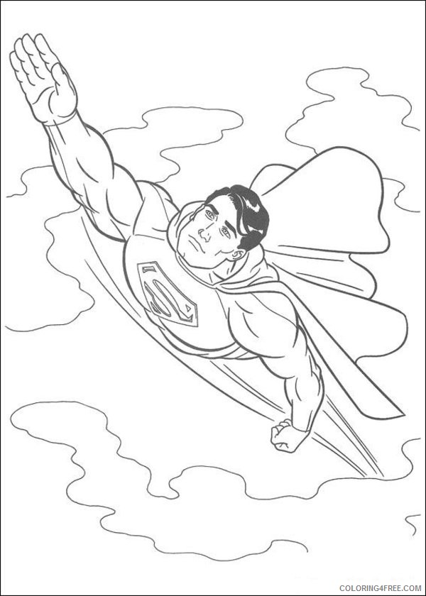 superman in sky coloring pages Coloring4free