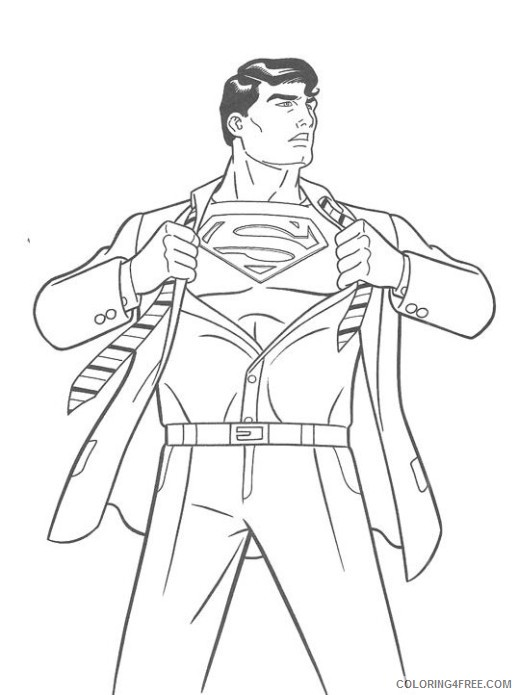 superman return coloring pages printable Coloring4free