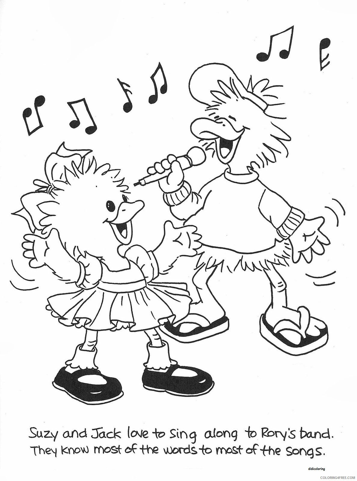 suzys zoo coloring pages suzy and jack singing Coloring4free