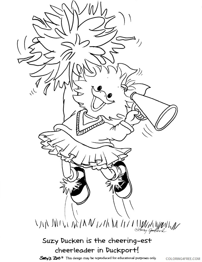 suzys zoo coloring pages suzy cheerleaders Coloring4free
