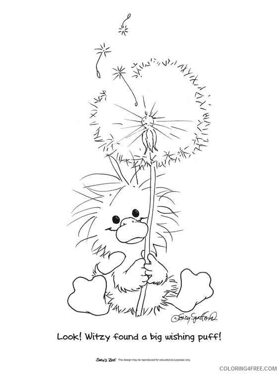 suzys zoo coloring pages witzy and dandelion Coloring4free
