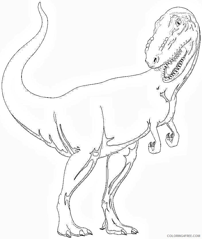 t rex coloring pages dinosaurs Coloring4free