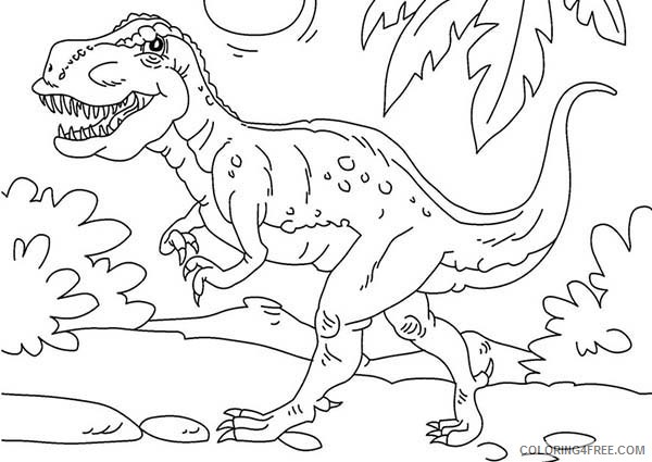t rex coloring pages for kindergarten Coloring4free