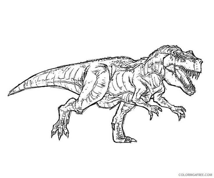 t rex jurassic park coloring pages Coloring4free