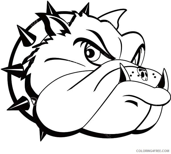 tattoo coloring pages bulldog head Coloring4free