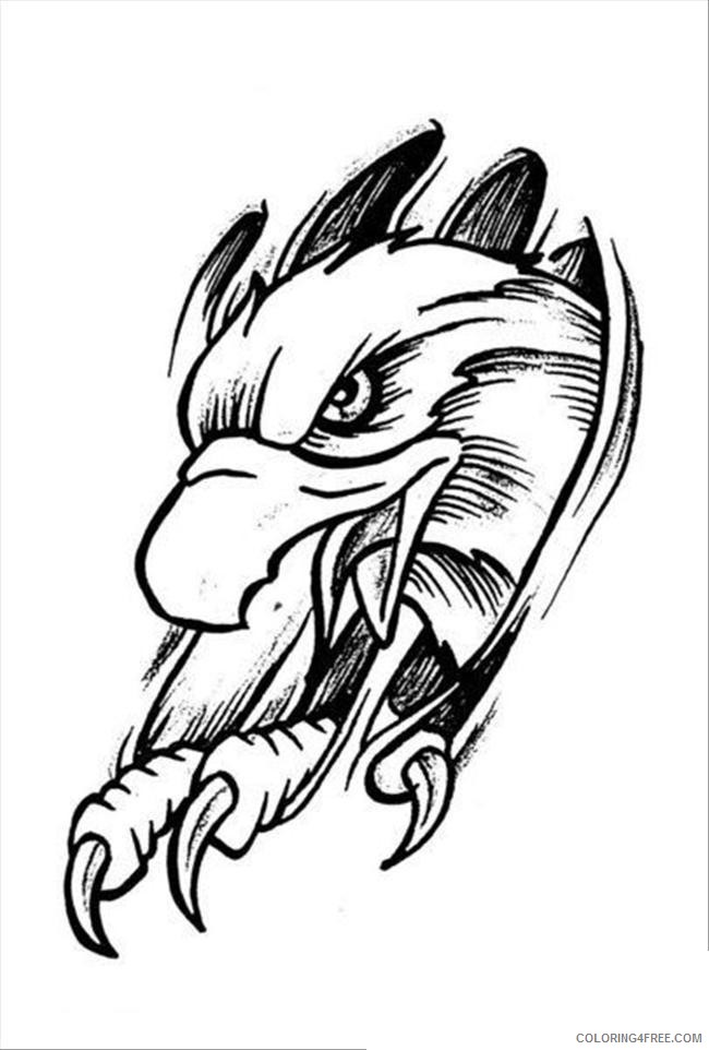 tattoo coloring pages eagle Coloring4free