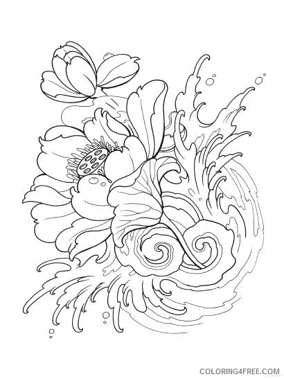 tattoo coloring pages flower Coloring4free
