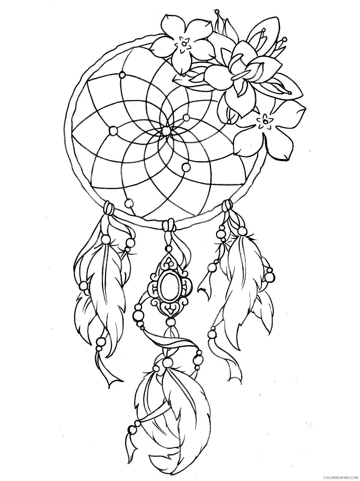 tattoo coloring pages for girls Coloring4free