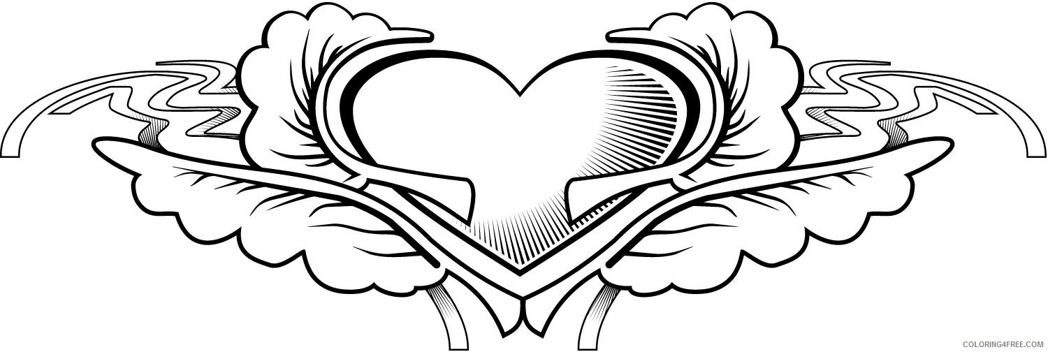tattoo coloring pages heart Coloring4free