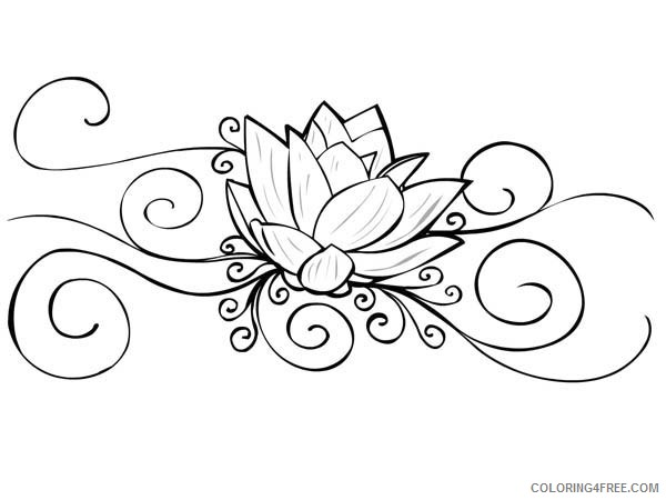 tattoo coloring pages lotus flower Coloring4free