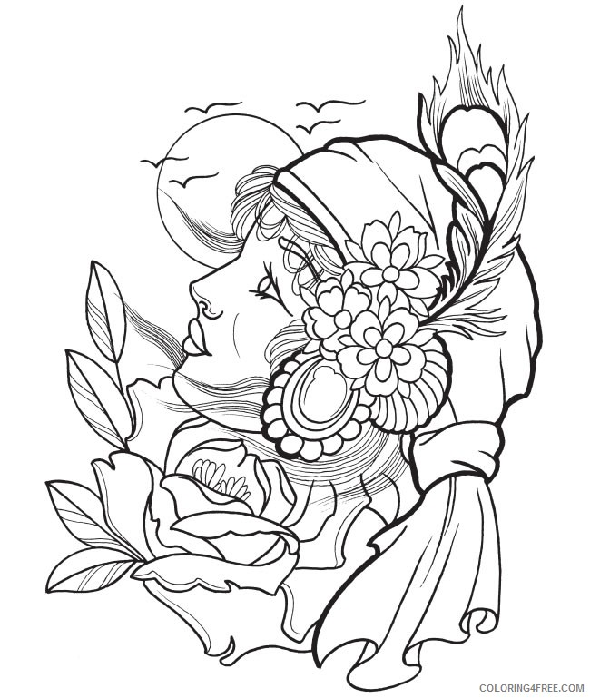 tattoo coloring pages printable Coloring4free