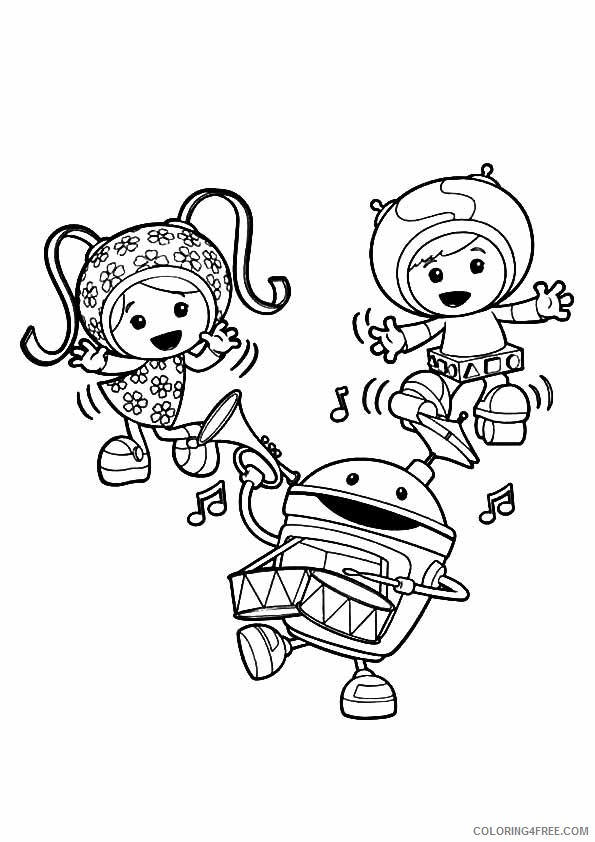 team umizoomi coloring pages dancing Coloring4free