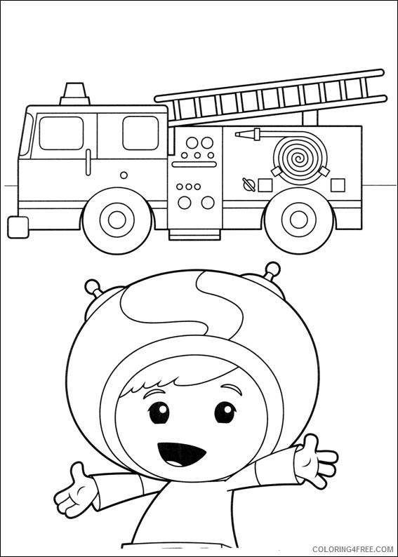 team umizoomi coloring pages geo and firetruck Coloring4free