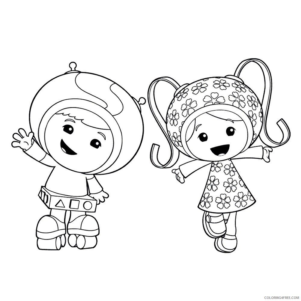 team umizoomi coloring pages geo and milli Coloring4free