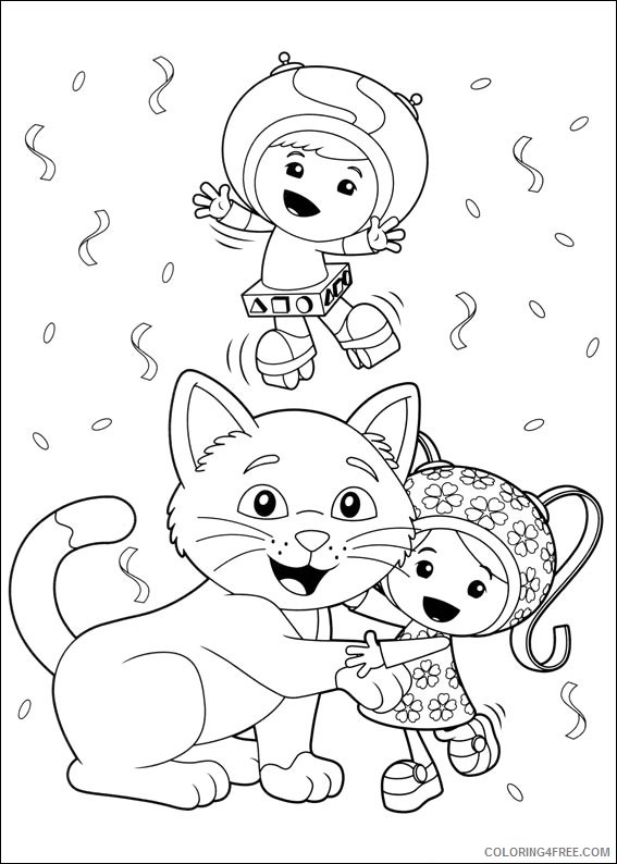 team umizoomi coloring pages geo brownie and milli Coloring4free