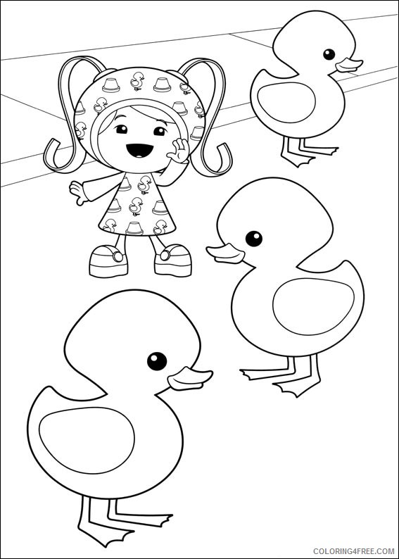 team umizoomi coloring pages milli and rubber ducks Coloring4free