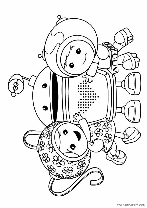 team umizoomi coloring pages milli bot geo Coloring4free