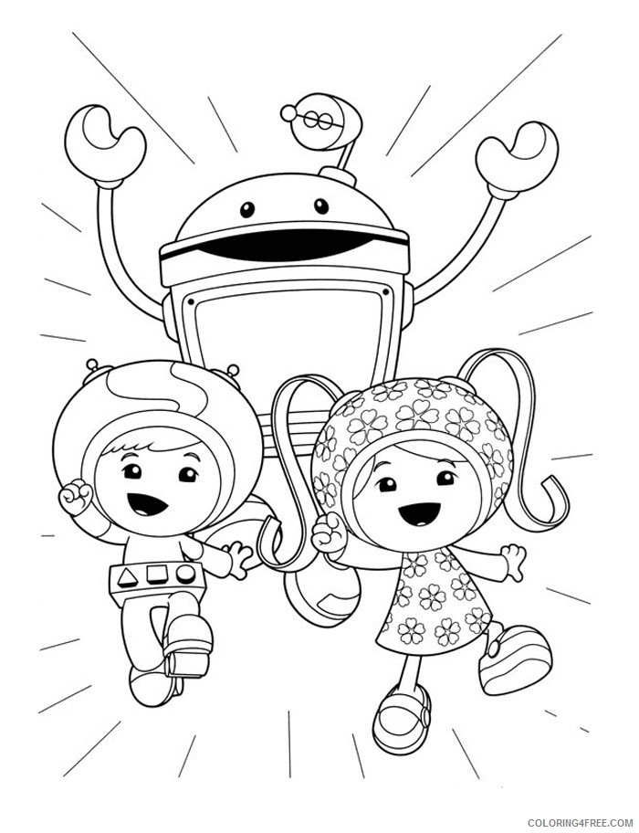 team umizoomi coloring pages nickelodeon Coloring4free
