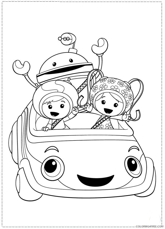 team umizoomi coloring pages printable Coloring4free