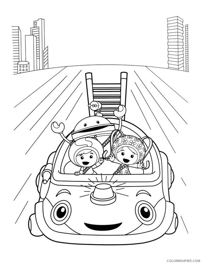 team umizoomi coloring pages to print Coloring4free