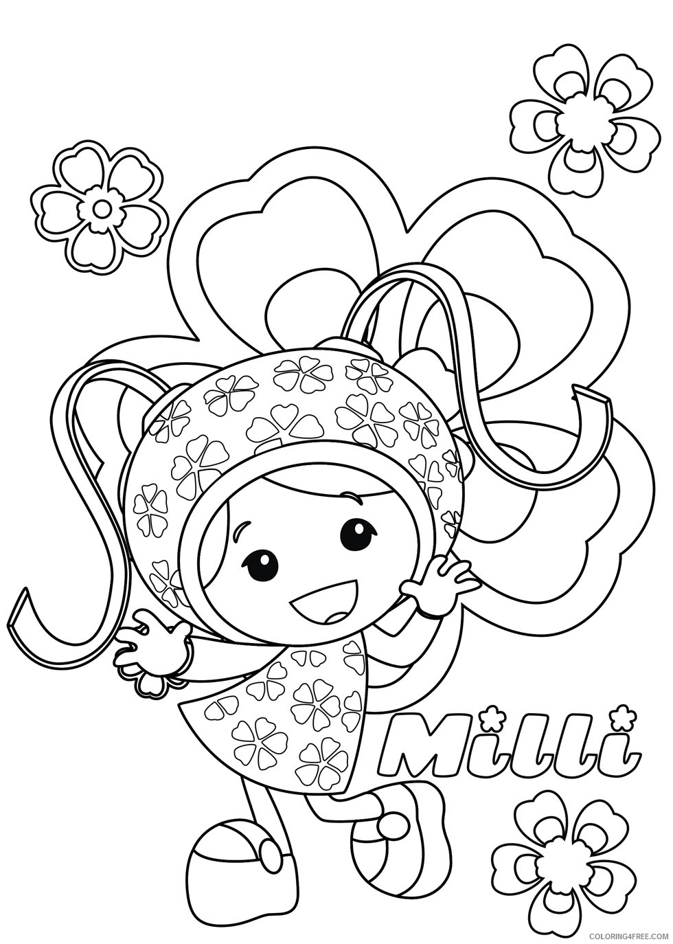 team umizoomi milli coloring pages Coloring4free