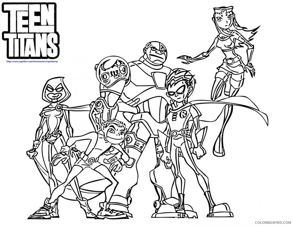 teen titans coloring pages all heroes Coloring4free