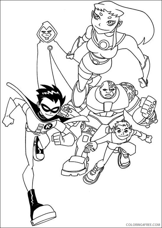 teen titans coloring pages to print Coloring4free