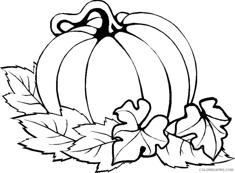 thanksgiving coloring pages pumpkin Coloring4free