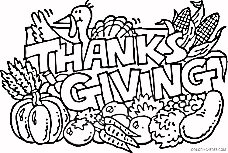 thanksgiving november coloring pages Coloring4free