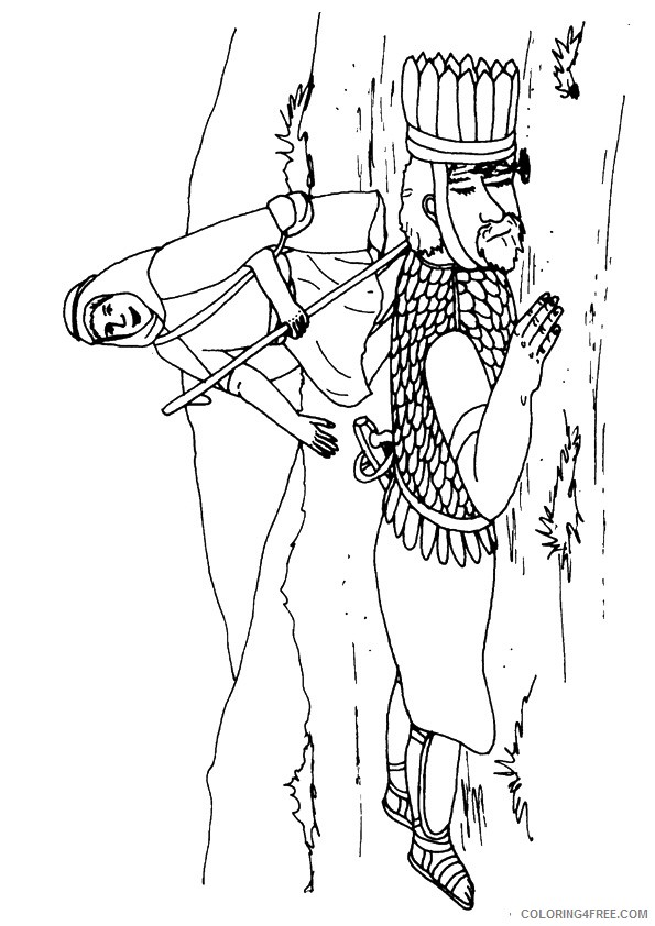 the david and goliath coloring pages Coloring4free