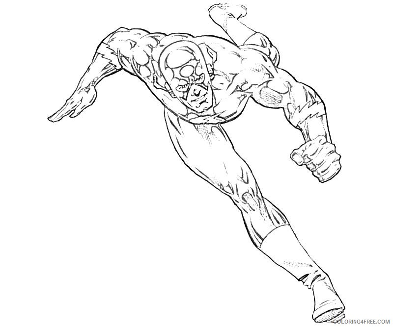 the flash coloring pages cw Coloring4free