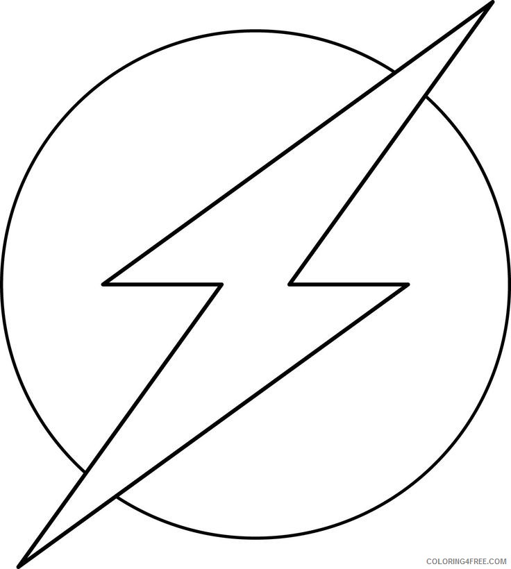 the flash coloring pages logo Coloring4free
