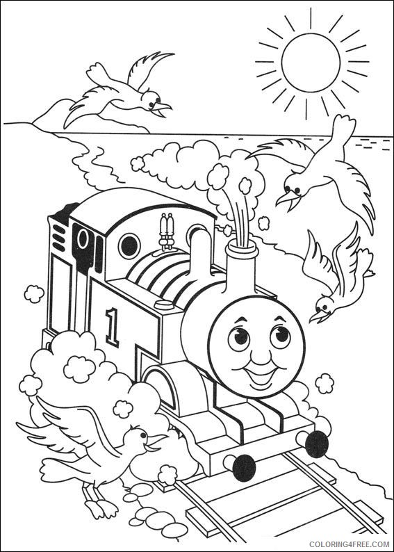 thomas and friends coloring pages at the beach Coloring4free