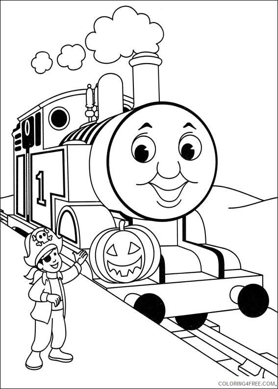 thomas and friends coloring pages halloween Coloring4free