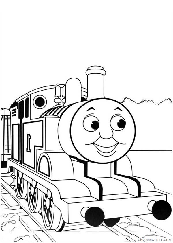 thomas and friends coloring pages heading to station Coloring4free