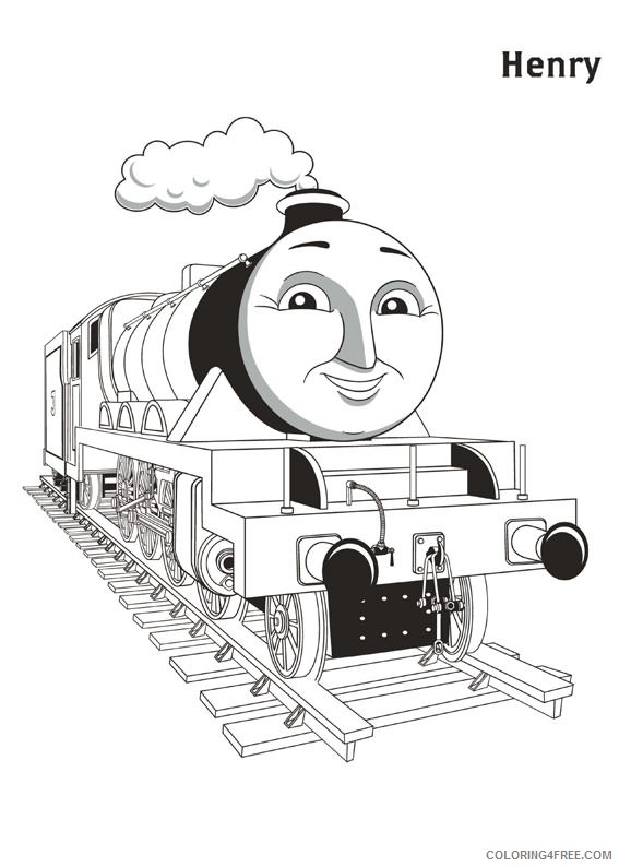 thomas and friends coloring pages henry Coloring4free