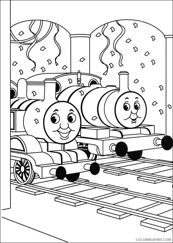thomas and friends coloring pages in station Coloring4free